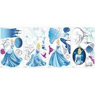 Cenerentola - Adesivi Da Parete Con Glitter - 4 Fogli
