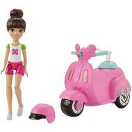 Barbie Parti e Via + veicolo scooter (FHV80)