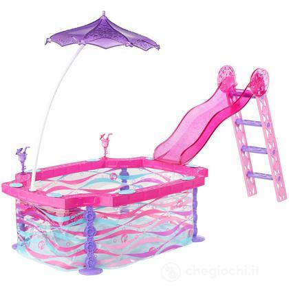 Piscina glam bdf56 barbie mattel giocattoli for Piscina di barbie