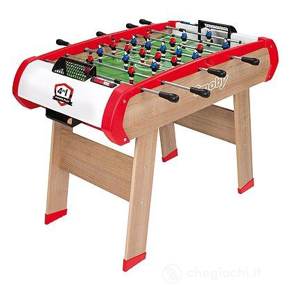 Calcetto multigioco 4 in 1 (Calcetto, Ping Pong, Hockey e Biliardo)