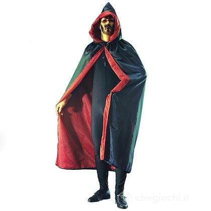 Mantello double-face nero rosso 140 cm