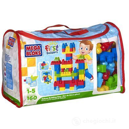 Nuova sacca rettangolare ECO friendly Maxi mattoncini 160 pezzi (8001)
