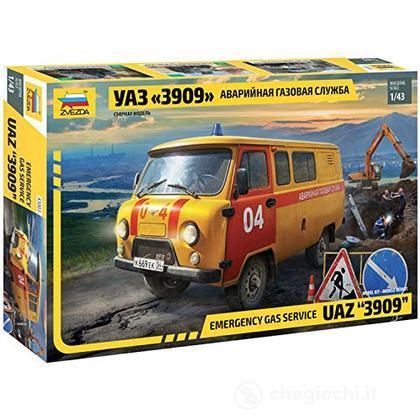 Emergency Gas Service Uaz 3909 Scala 1/72 (ZS43003)