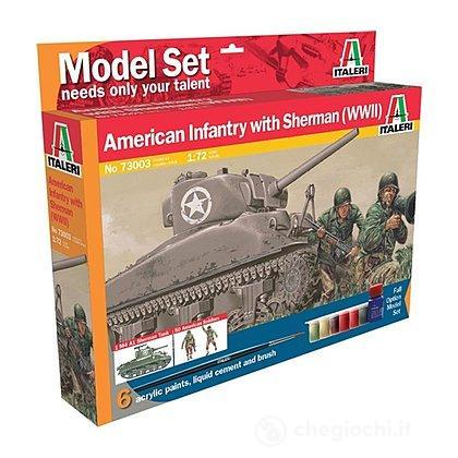 Fanteria Usa con Carro Armato Sherman WWII