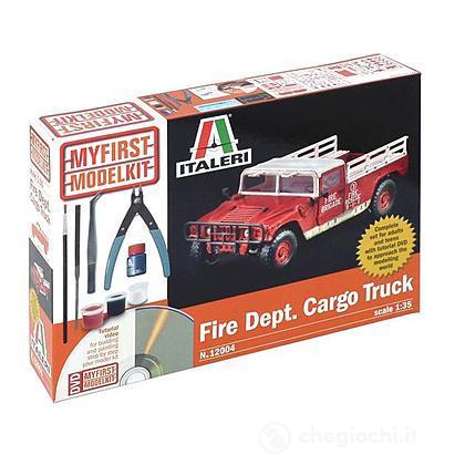 Camioncino vigili del fuoco (Kit, tools,colla,colori,video tutorial)