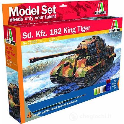Carro Armato Sd.Kfz. 182 King Tiger (Kit, colori, colla, pennello)