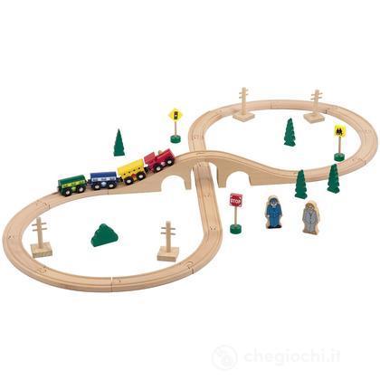 Treno Legno 35 Pezzi (GG95006)
