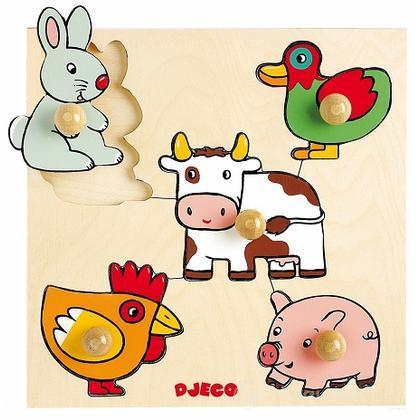 Puzzle animali della fattoria