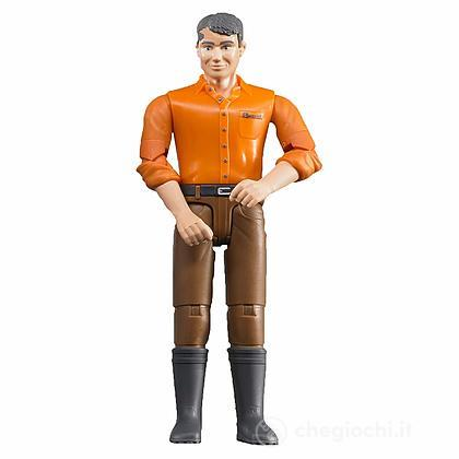 Uomo con Jeans Marroni (60007)