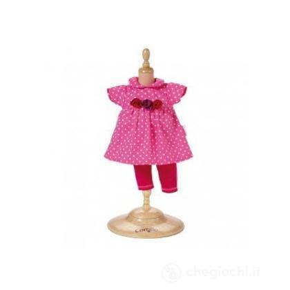 Vestito Rosa a pallini piccolo