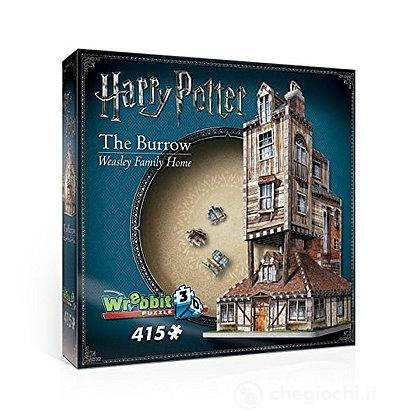 Harry Potter - The Burrow - Weasley Family Home (Puzzle 3D 415 Pz)