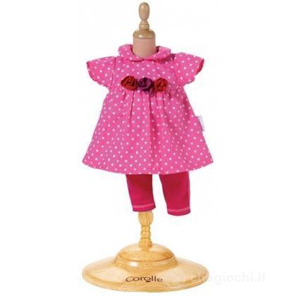 Vestito Rosa a pallini grande