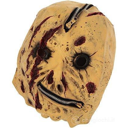 Maschera Zipper con Cicatrici Sanguinanti