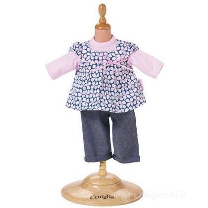 Vestito Jeans & Camicetta a fiori piccolo