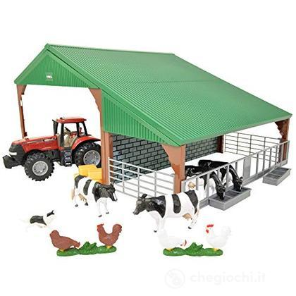 Farm Building Set With Case Tractor Scala 1/32 (LC47019)