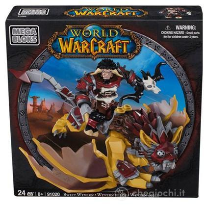 Personaggi da montare Warcraft Swift Wyvern & Scarbuck (Horde Tauren Hunter) (91020)