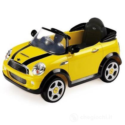 Auto Elettrica Mini Cooper S gialla con Radiocomando 6 Volt (1022G)
