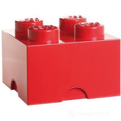 Contenitore LEGO Brick 4 Rosso