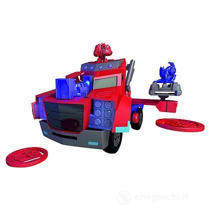 Transformers Mini-Con Deployer Optimus Prime cm. 23 lancia dischi luci e suoni (203116003)