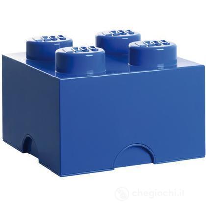 "Scatola da ""4"" blu"