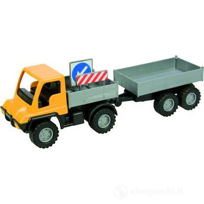 Mini camion con rimorchio