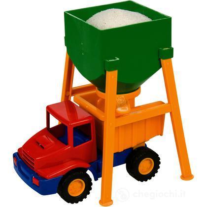 Mini camion con silo