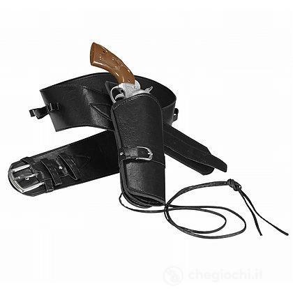 Cinturone con Fondina Western nero