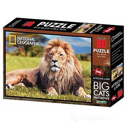 Puzzle 3D Discovery: Leone 500 Pezzi