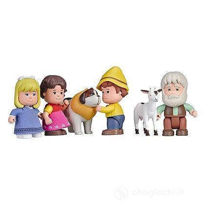Heidi - Set Heidi, Peter, Clara, Nonno, Nebbia E Capretta