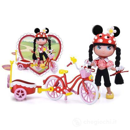 Bambola I Love Minnie bici