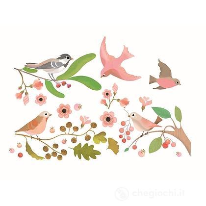 Romantic birds - Adesivi finestra (DD05052)