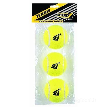 Busta 3 palle tennis training gialle (708300036)