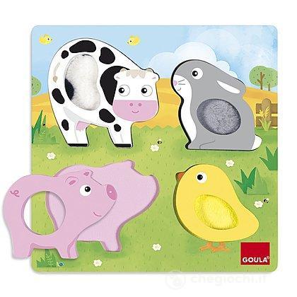 Animali Tattile53055Goula Puzzle Puzzle Fattoria Fattoria Animali Animali Puzzle Fattoria Tattile53055Goula orCedxBW