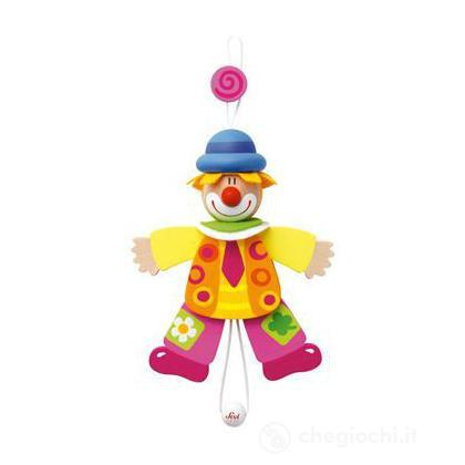 Burattino clown cravatta