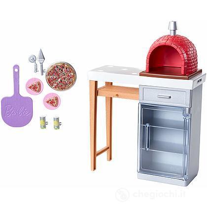 Forno Pizza Barbie Accessori Interni (FXG39)