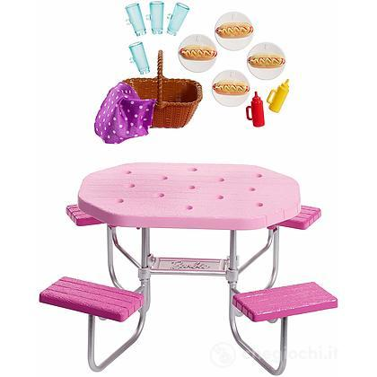 Tavolo Pic Nic Barbie Accessori Interni (FXG40)