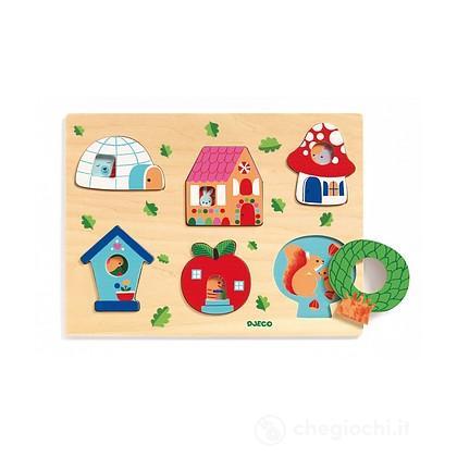 Coucou-vroum Puzzle in legno (DJ01063)