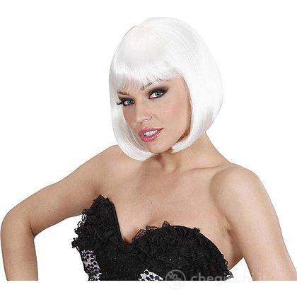 Parrucca caschetto bianca