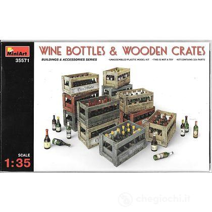 Wine Bottle & Wooden Crates 1/35 (MA35571)