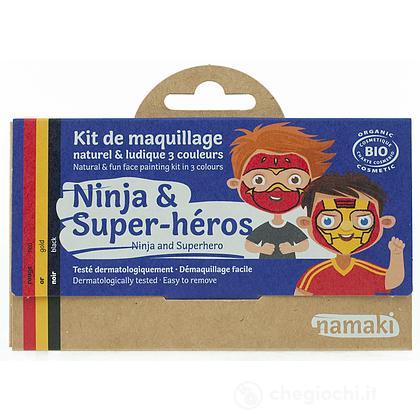 Kit Trucchi Biologici 3 colori Ninja e Supereroe (NA002605)
