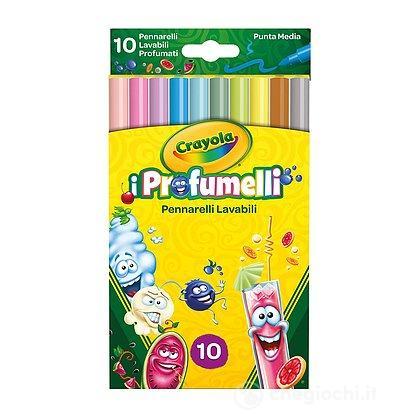 I Profumelli - 10 Pennarelli Punta Media Lavabili Profumati (58-5071)