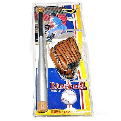 Mazza da Baseball con guanto e palla