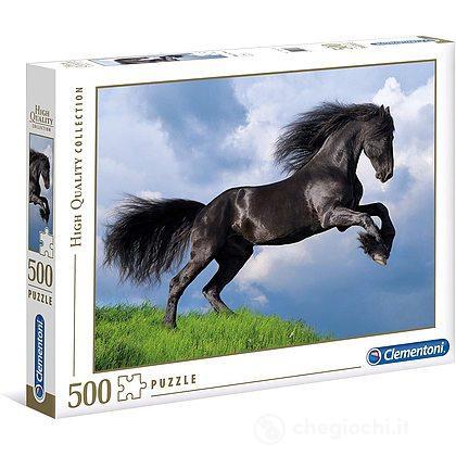 High Quality Collection Puzzle - Cavallo nero - 500 Pezzi (35071)