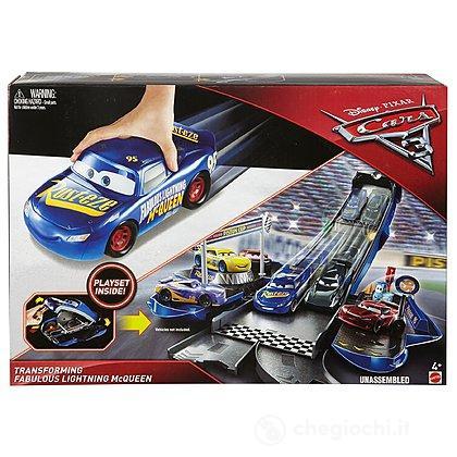 Saetta McQueen Veicolo Playset Trasformabile Cars 3 (FCW06)