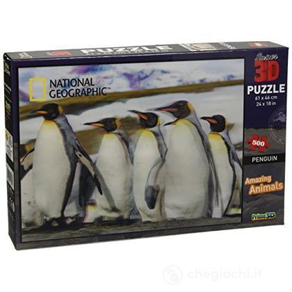 Puzzle 3D Nat Geo/Discovery: Pinguini 500 Pz