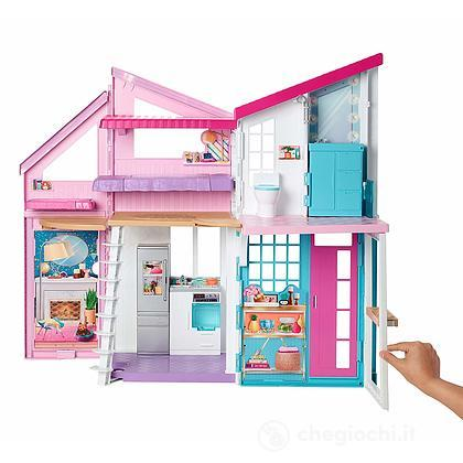 Barbie Casa Di Malibu, Playset Richiudibile due Piani con Accessori (FXG57)