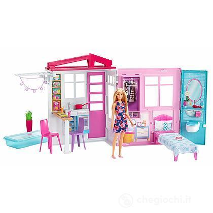 Il loft di Barbie. Casa Portatile con bambola (FXG55)