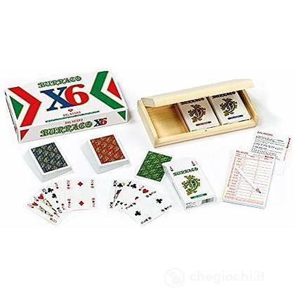 Carte Burraco per sei - Confezione in legno (900794)