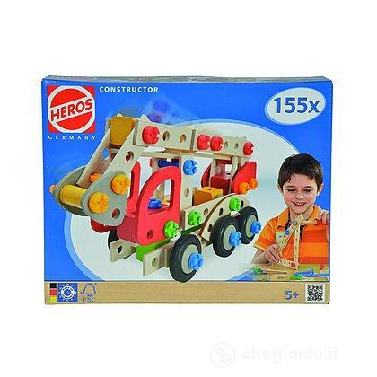 Heros Constructor 155 pezzi costruibile camion vigili del fuoco, ambulanza, mezzo polizia (100039085)