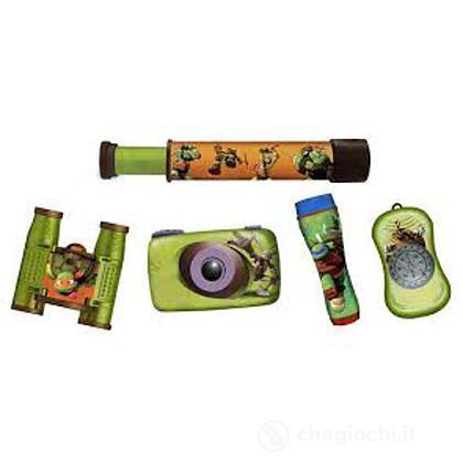 Set avventura da 5 pezzi Turtles: fotocamera, binocolo, pila flash, bussola